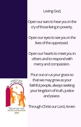 World Day of the Poor Pray : Caritas Westminster